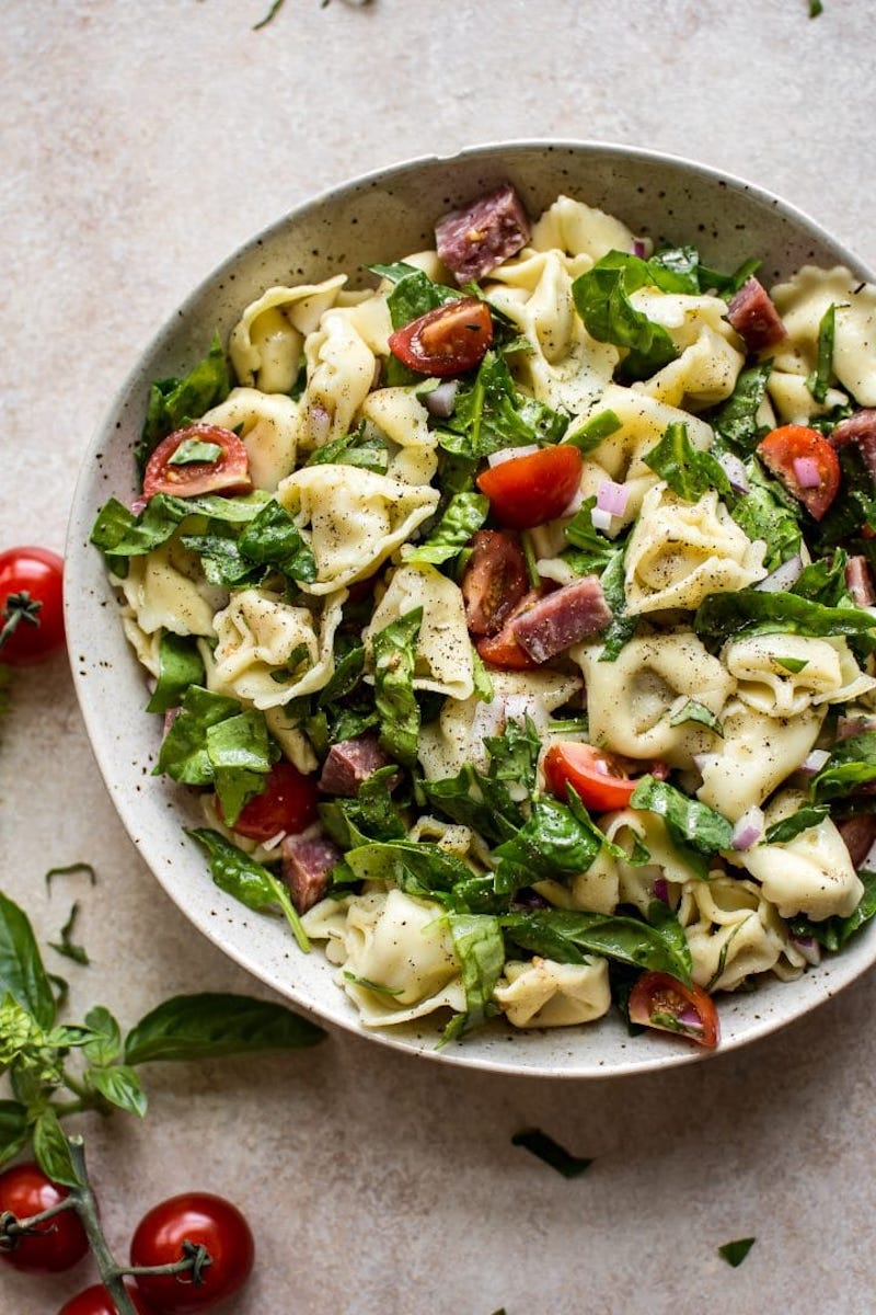 Weekly meal plan: Spinach Tortellini Salad at Salt & Lavender