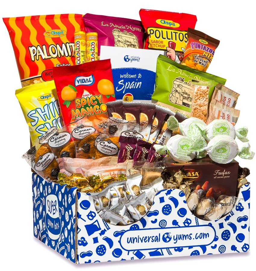 Gourmet gift boxes for dads: Adventurous travelers will love Universal Yums subscription featuring unique snacks from a different country each month