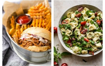 Weekly meal plan: BBQ at Rachel Cooks and Pasta Salad at Salt & Lavender