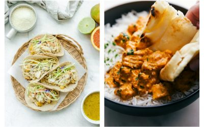 Weekly meal plan: Mojo Mango Chicken Tacos at Sweet Cayenne and Chicken Tikka Masala at Chelsea's Messy Apron