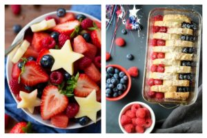 Easy 4th of July fruit dishes: Fruit salad at Garden in the Kitchen; French Toast at Life Made Simple