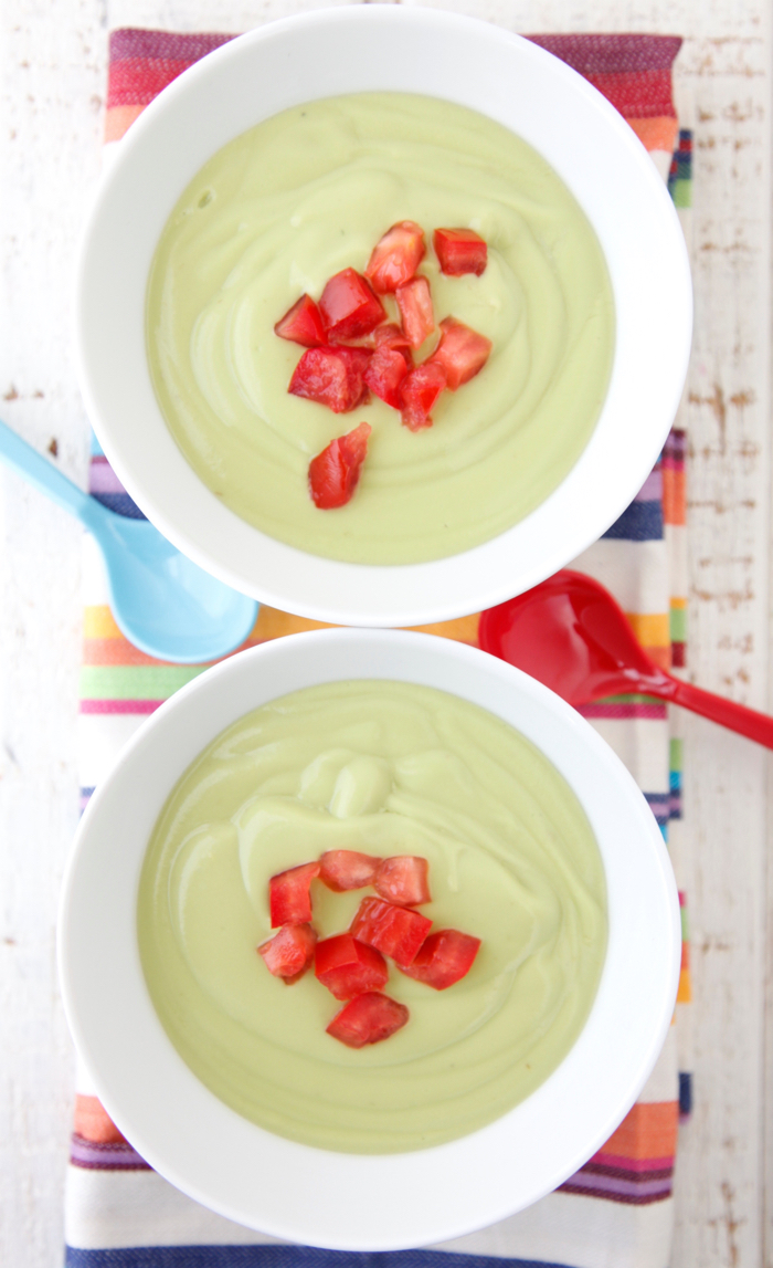 Cold soups for summer: Chilled avocado soup via Weelifcious. Four ingredients and a blender. Easy!