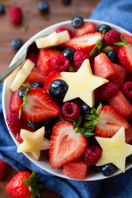 Fourth of July fruit desserts: Fruit Salad at Life Made Simple