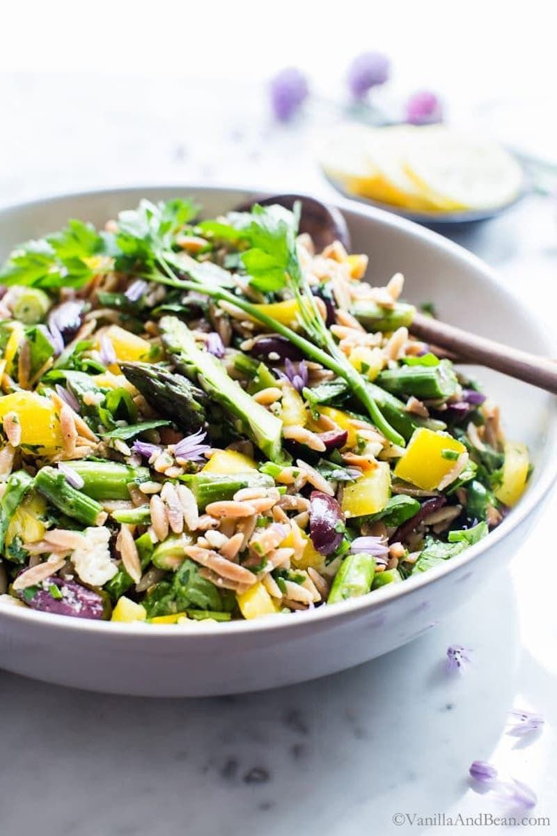 Weekly meal plan: Lemon Orzo Salad at Vanilla and Bean