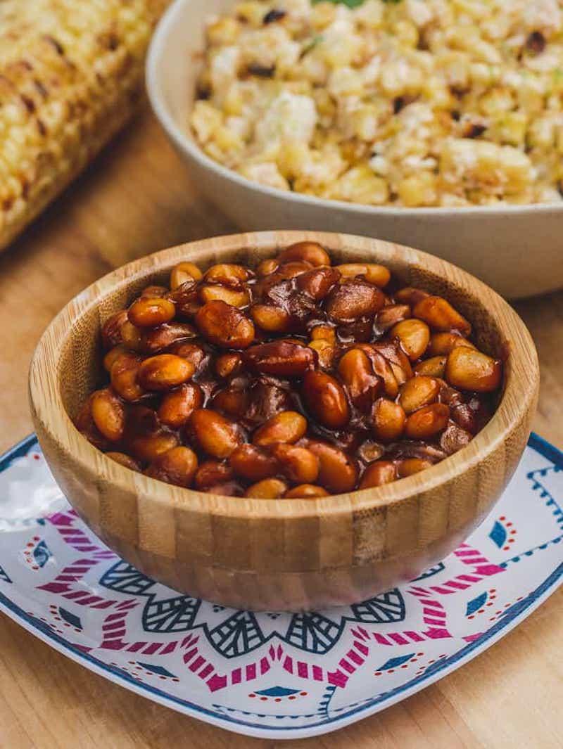 Vegan BBQ dishes for summer: Baked Beans at Sweet Veg Table