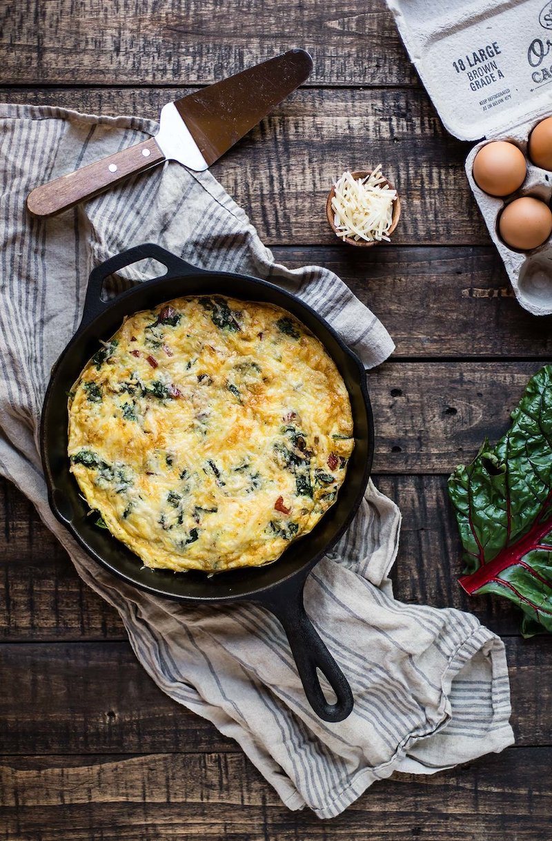 Weekly meal plan: Swiss Chard Frittata at Foraged Dish