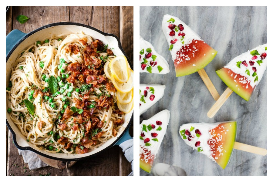 Weekly meal plan: One-pot pasta at Salted Mint and Watermelon Popsicles at Love Food Nourish