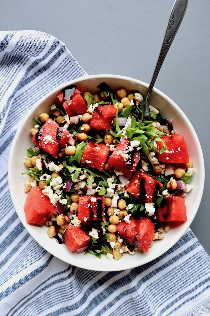 Weekly meal plan: Watermelon Farrow Bowls at Cait's Plate