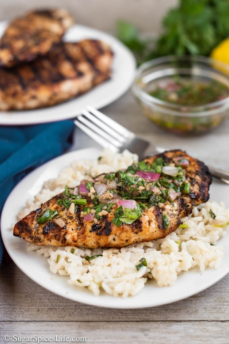 Weekly meal plan: Chimichurri Chicken at Sugar Spices Life