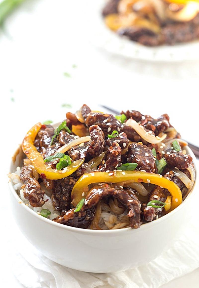 Weekly meal plan: Sesame Steak Stir Fry at Gal on a Mission