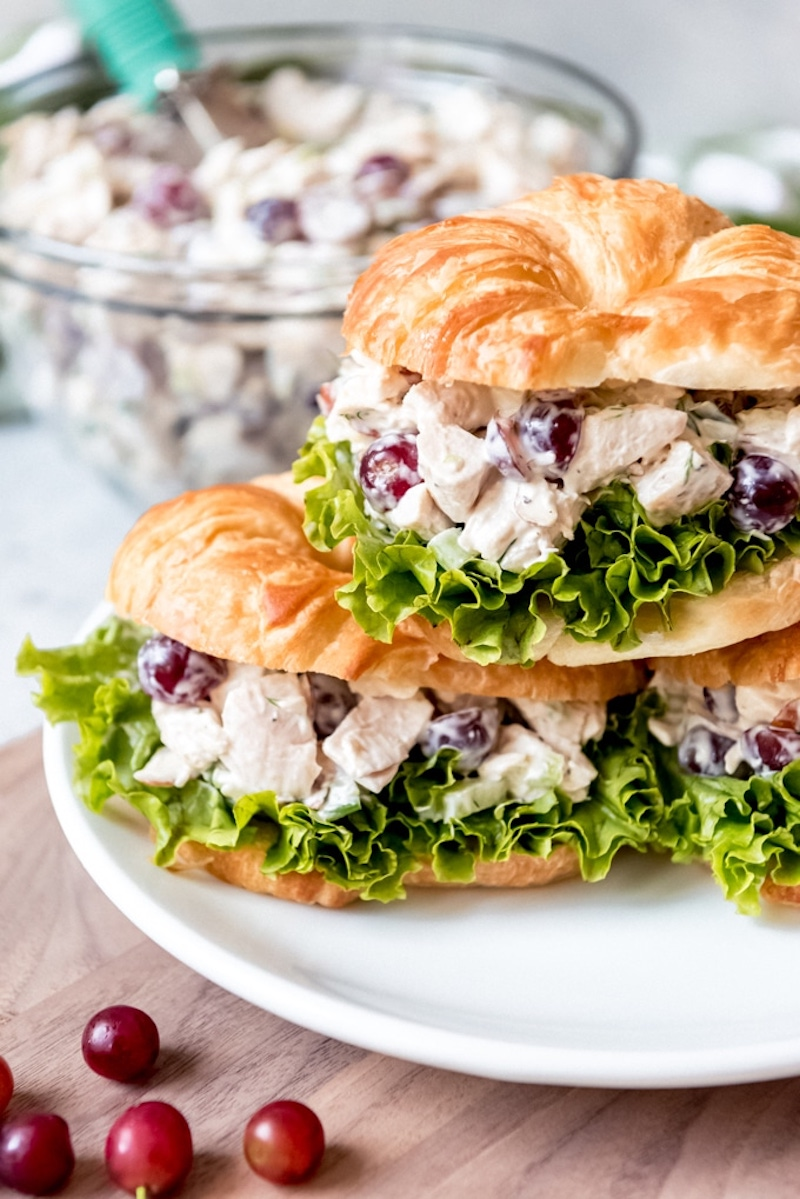 Weekly meal plan: Chicken Salad Croissants at House of Nash Eats