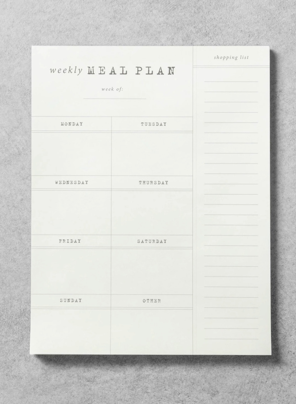 Easy weekly meal planner notepad: So smart for back to school! More: Cool Mom Eats
