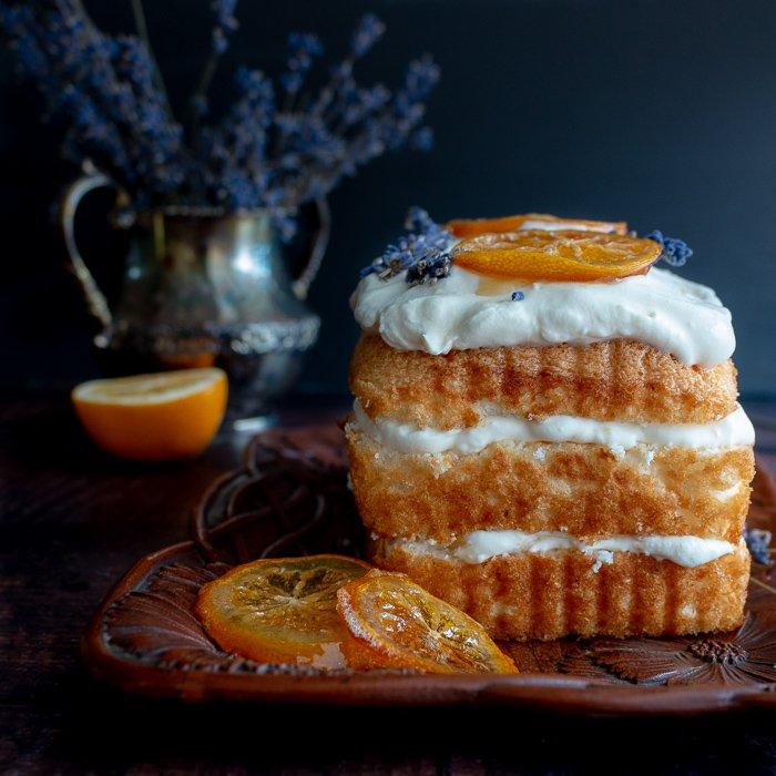 Weekly meal plan: Icebox Lemon Lavender Angel Food Cake at Healthy World Cuisine