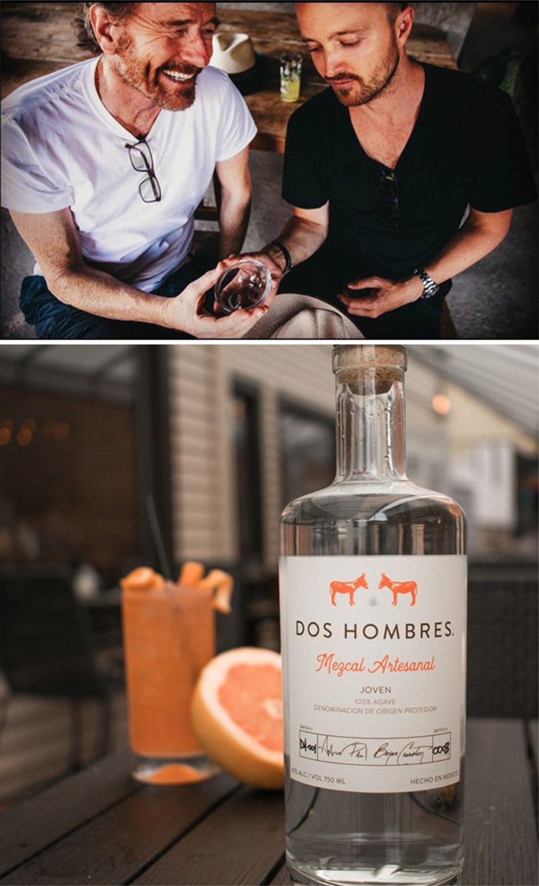 Dos Hombres Mezcal from Bryan Cranston and Aaron Paul