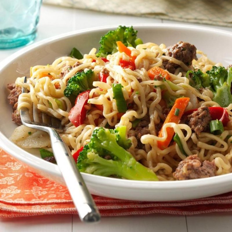 Weekly meal plan: Asian Noodles at Taste of Home