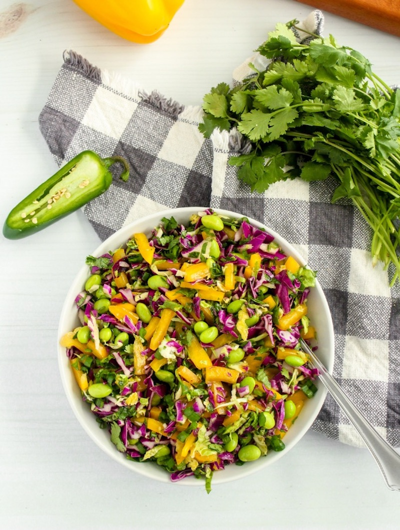 Weekly meal plan: Brussels Sprouts Slaw at Byte Sized Nutrition