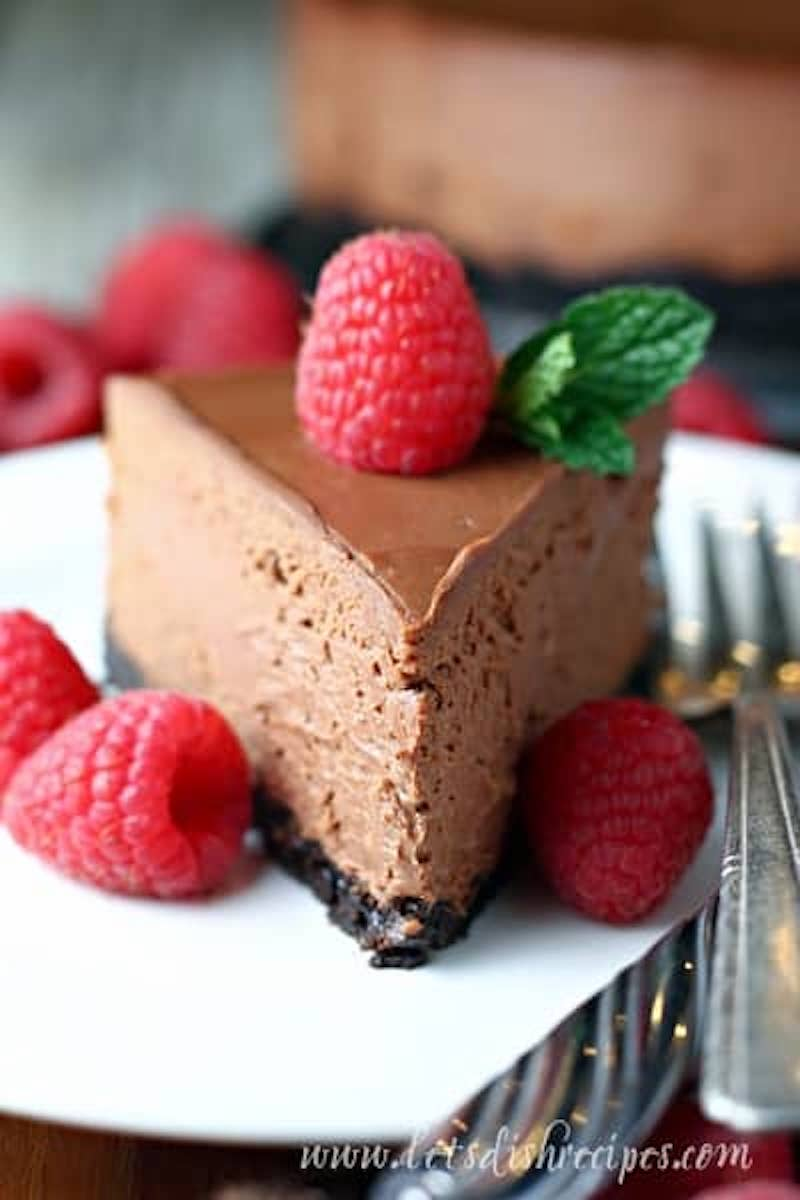 Weekly meal plan: Chocolate Cheesecake at Let's Dish