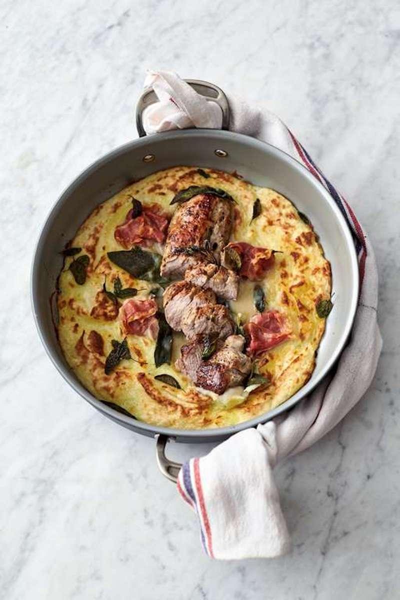 Weekly meal plan: Pork Roast over Mash by Jamie Oliver at The Happy Foodie