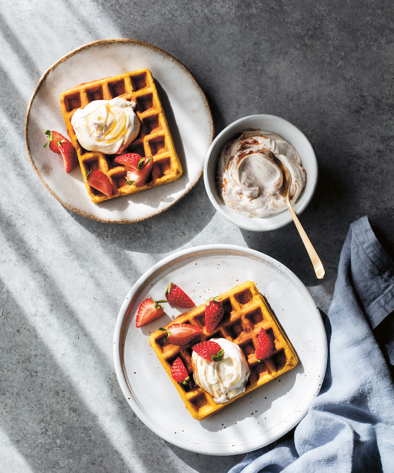 Half the Sugar, All the Love: Pumpkin Spice Waffles recipe