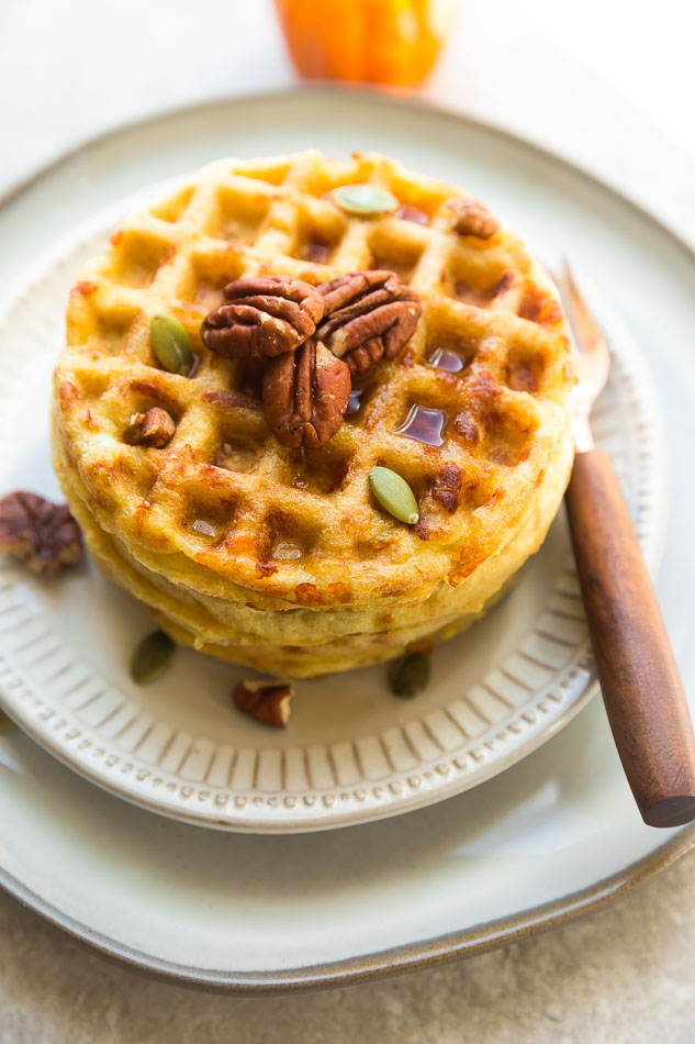Testing chaffle recipes: Pumpkin Chaffles variation for a Keto friendly dessert | Life Made Sweeter