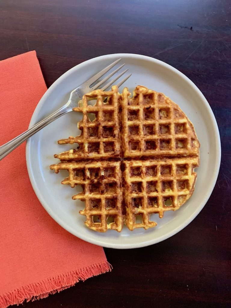 Testing the Keto-friendly, easy chaffle recipe with tips and tricks to make yours better | © Jane Sweeney for Cool Mom Eats