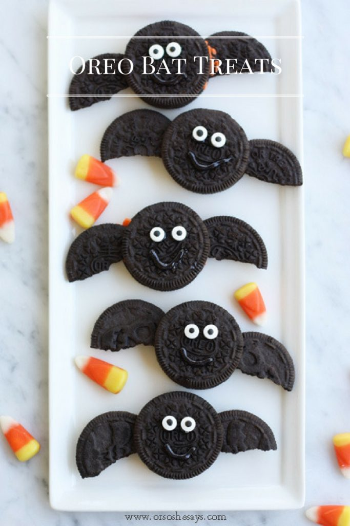 Easy Oreo Halloween treats: Oreo bats from Or So She Says