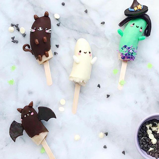 "Easy Halloween treats on Instagram: Halloween ""bananamals"" at Hello Wonderful"