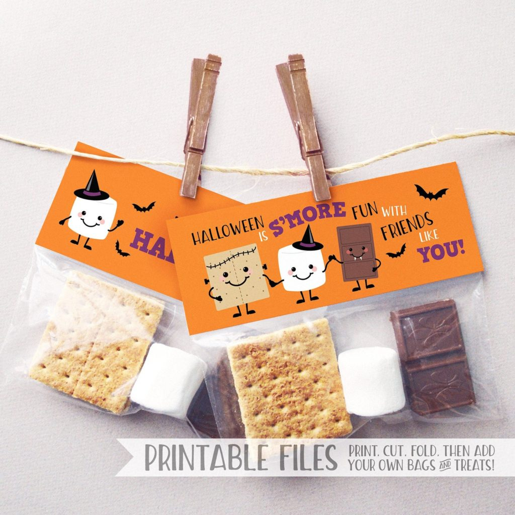Printable halloween treat bags for class parties