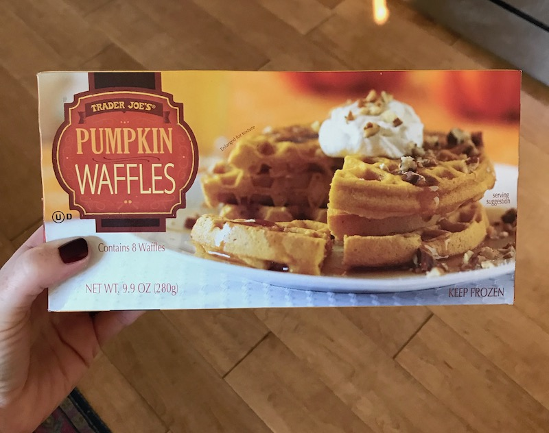 Pumpkin Spice snacks: Trader Joe's pumpkin waffles | Photo (c) Kate Etue for Cool Mom Picks