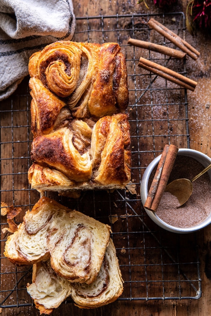 Weekly meal plan: Swirled Cinnamon Croissant Bread at Halfbaked Harvest