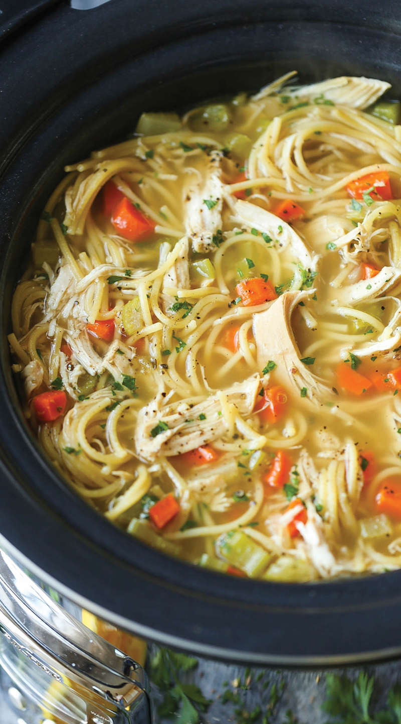 Weekly meal plan: Slow Cooker Chicken Noodle Soup at Damn Delicious