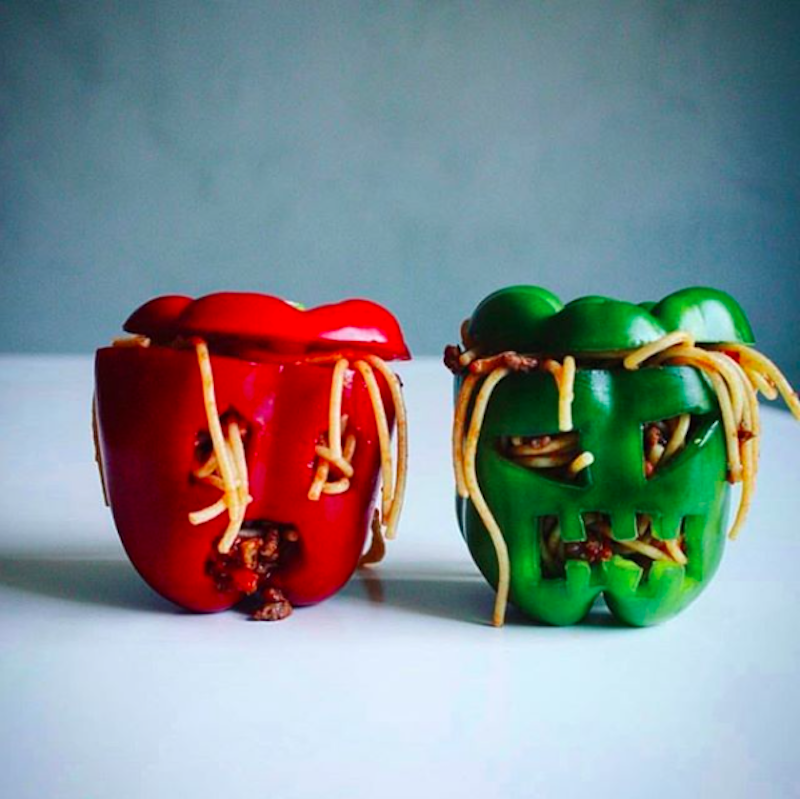 Weekly meal plan: Zombie stuffed peppers at Myrens Ernæring