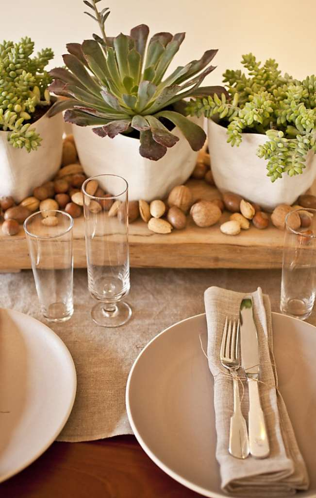 Eco-friendly table settings for Thanksgiving at SF Gate