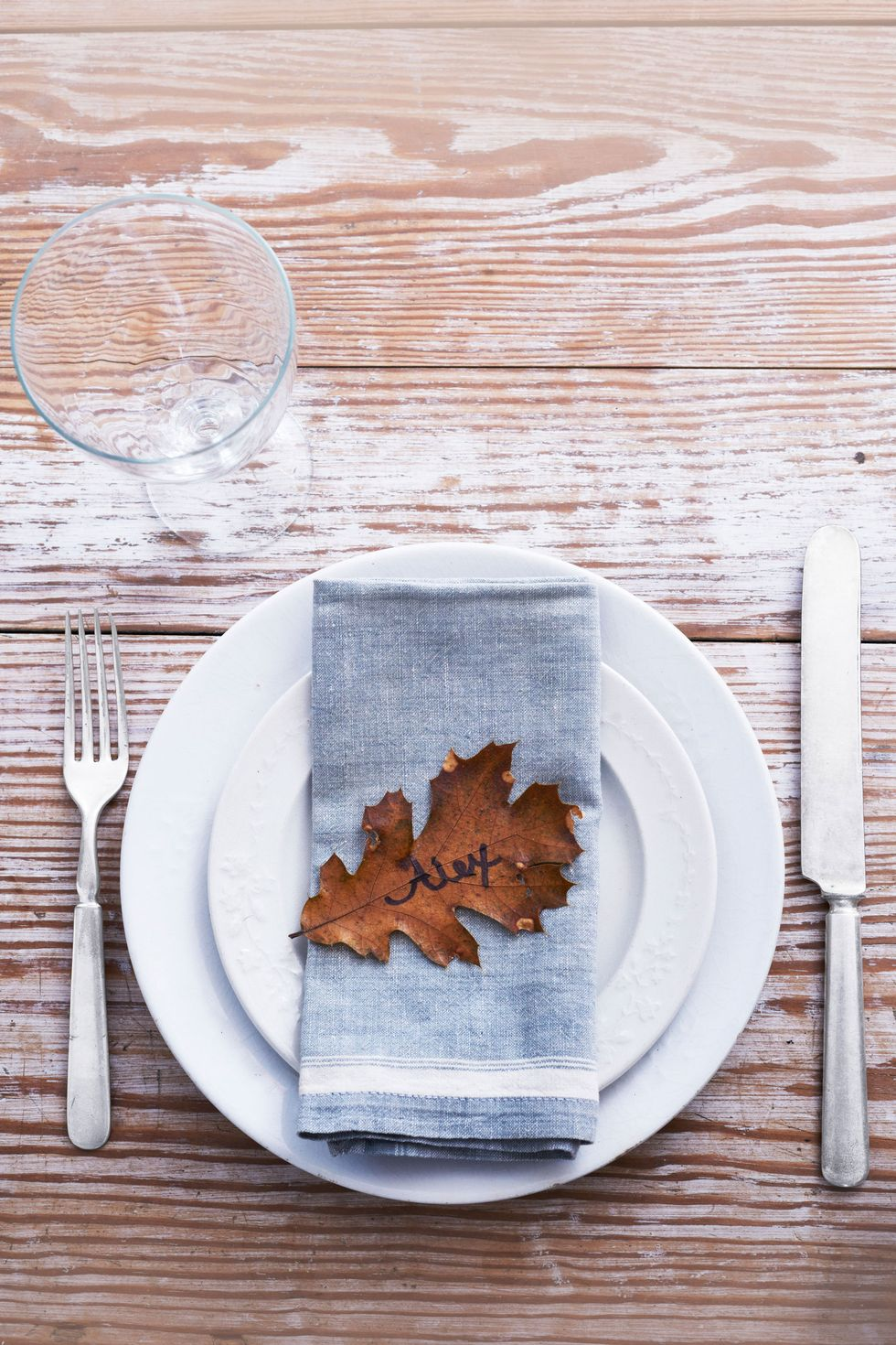 Eco-friendly table decor for Thanksgiving at Country Living