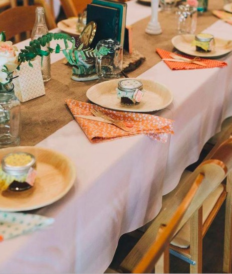 Eco-friendly table settings for Thanksgiving by My Weddlng Bliss