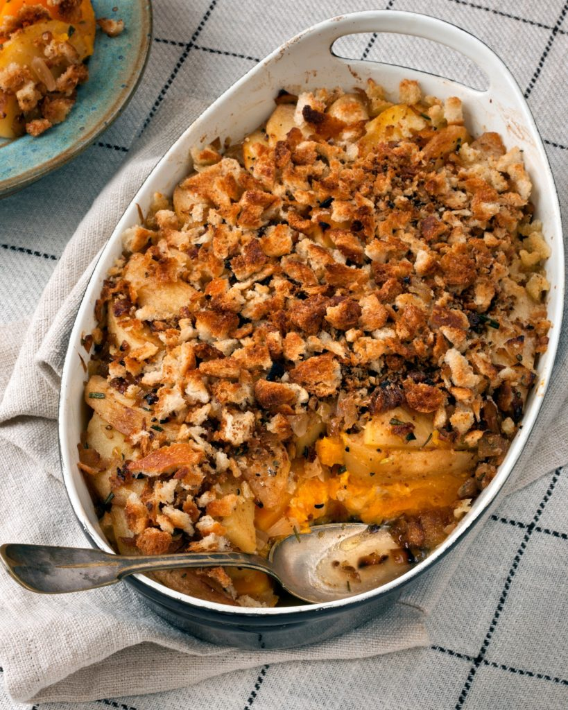 My favorite Friendsgiving food idea: Amy Traverso's Squash and Apple Gratin | © Squire Fox