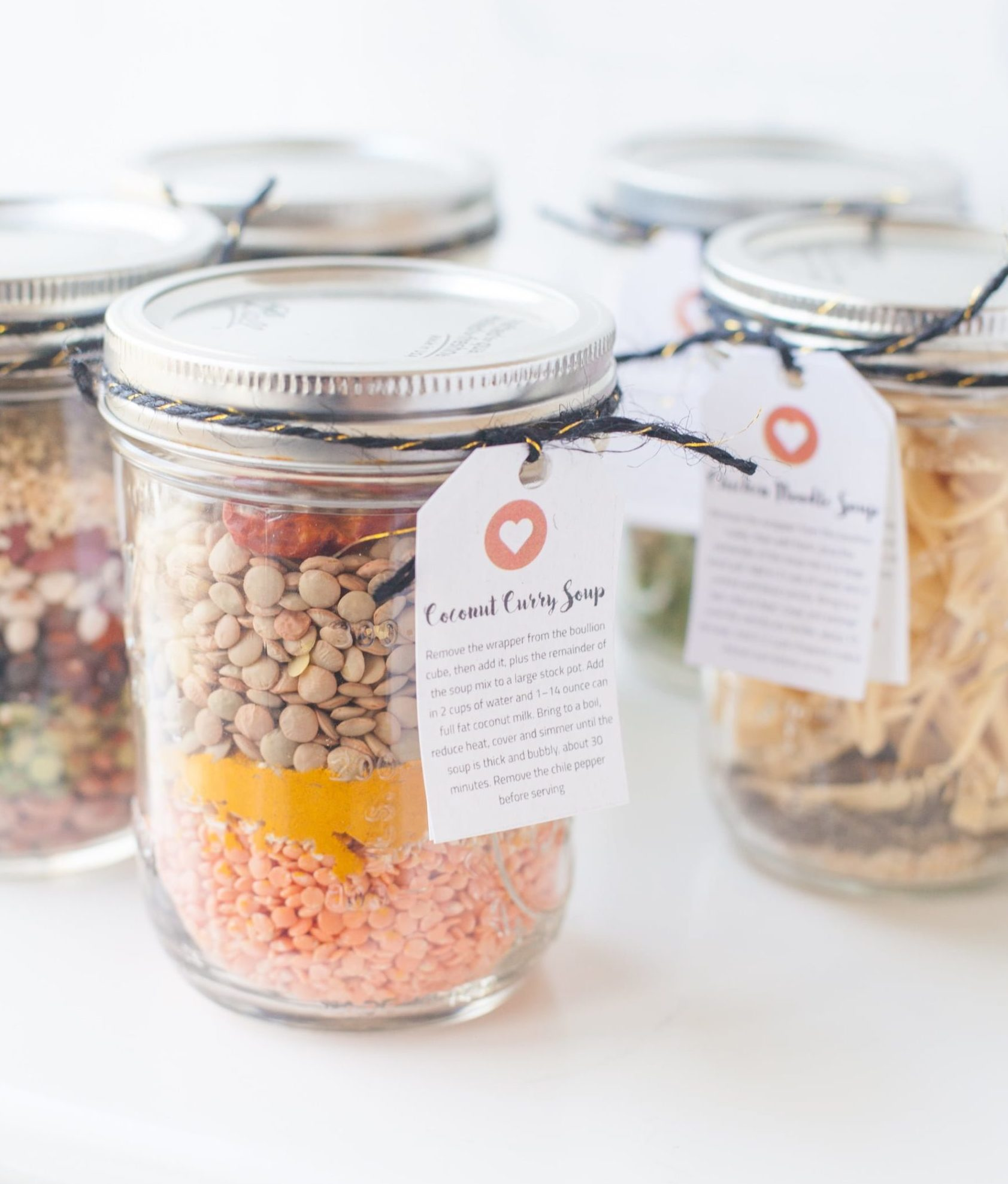 Soup mason jar gifts from Wholefully