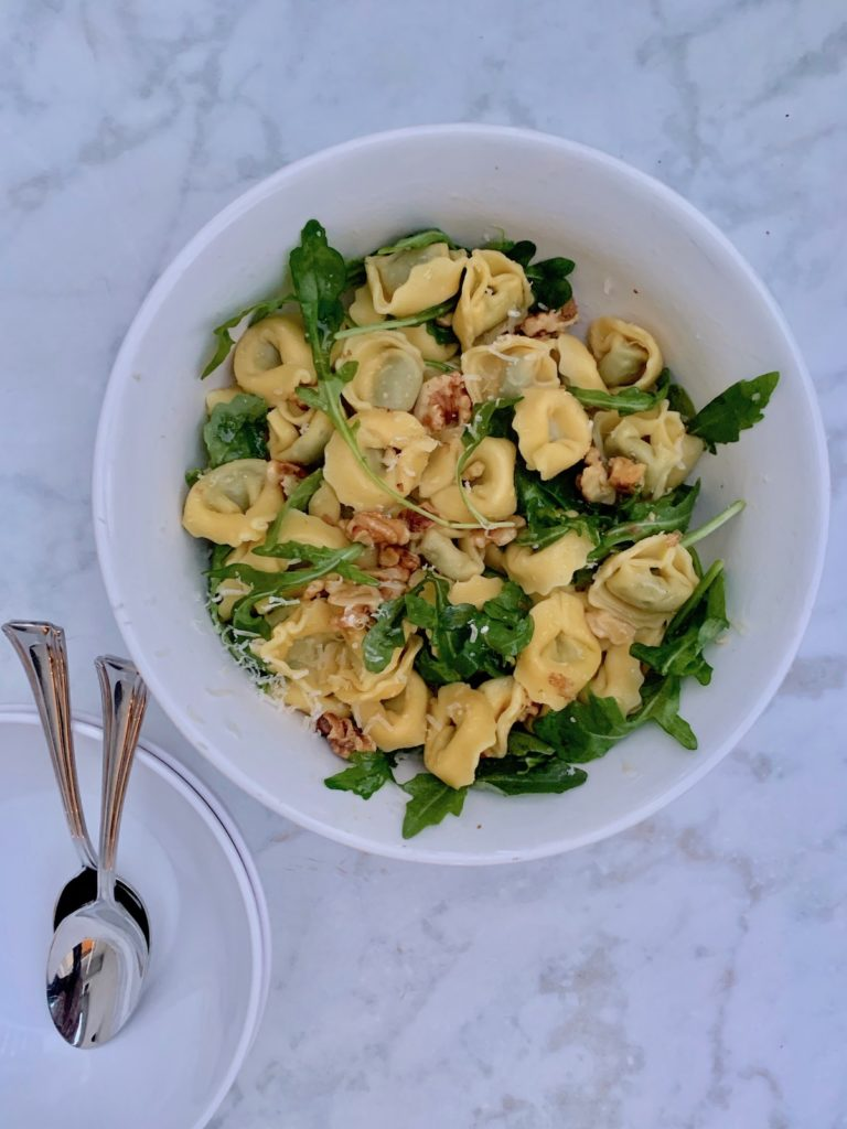 Shortcut tortellini is one of my favorite, easy Trader Joe's dinners to make for busy weeks © Jane Sweeney Cool Mom Eats