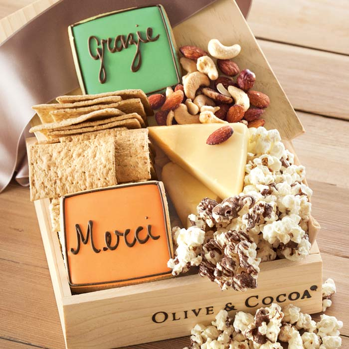 Thank you gourmet gift box from Olive & Cocoa