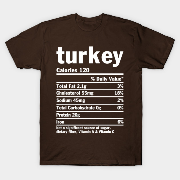 Turkey nutrition label t-shirt