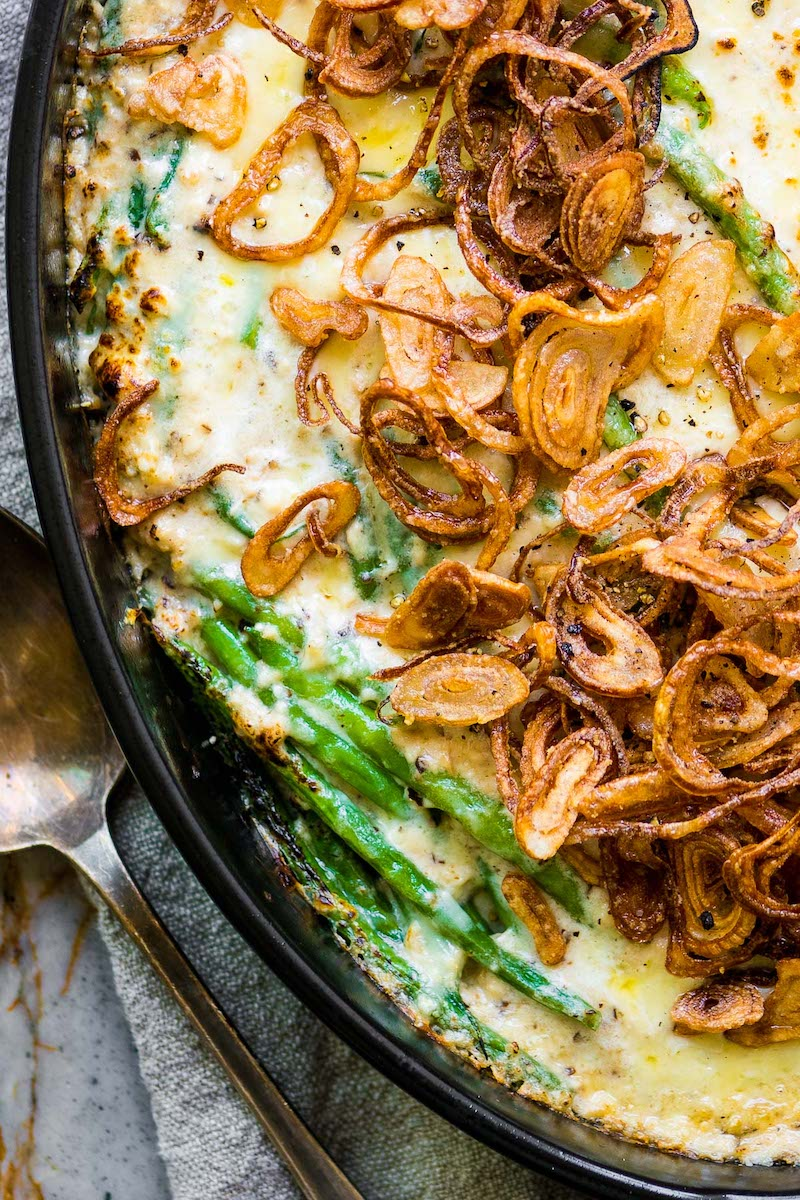 Vegetarian Thanksgiving recipes: Green Bean Casserole at The View from Great Island