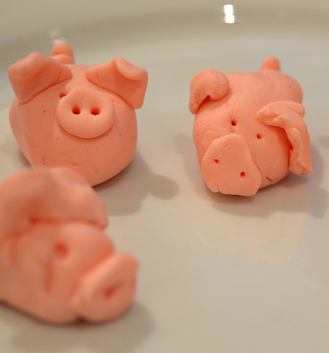 Good-luck foods for new year: Marzipan Pigs from One Third Stories