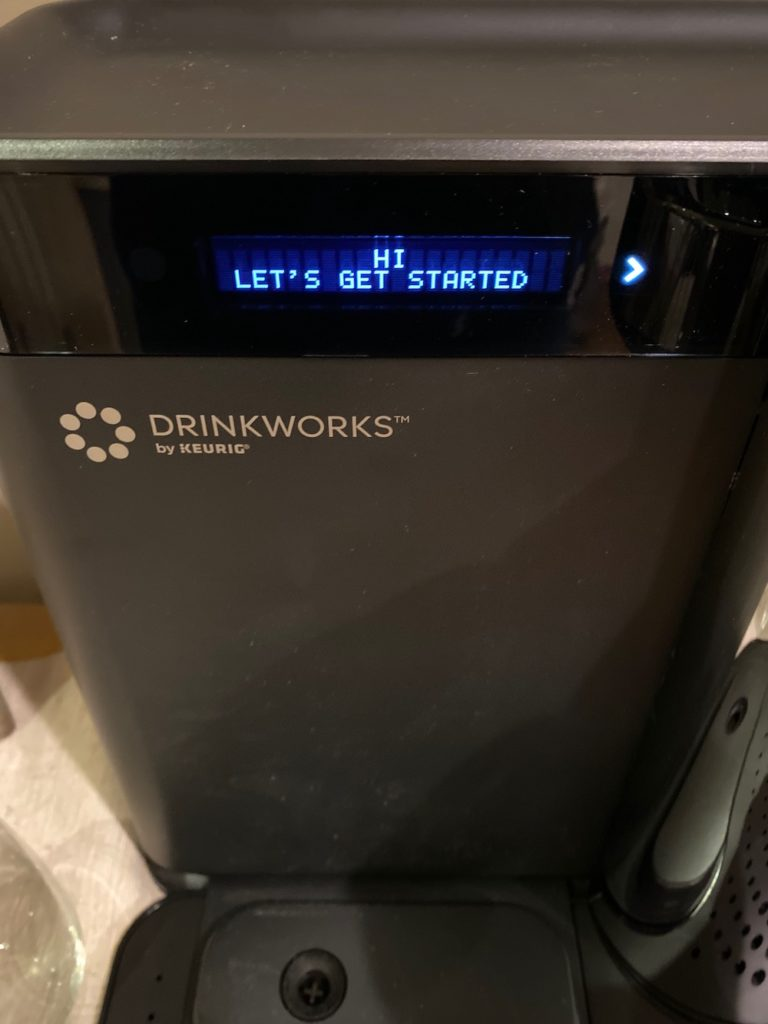 Drinkworks Home Bar by Keurig: The screen talks you through everything so set-up is easy (sponsor)