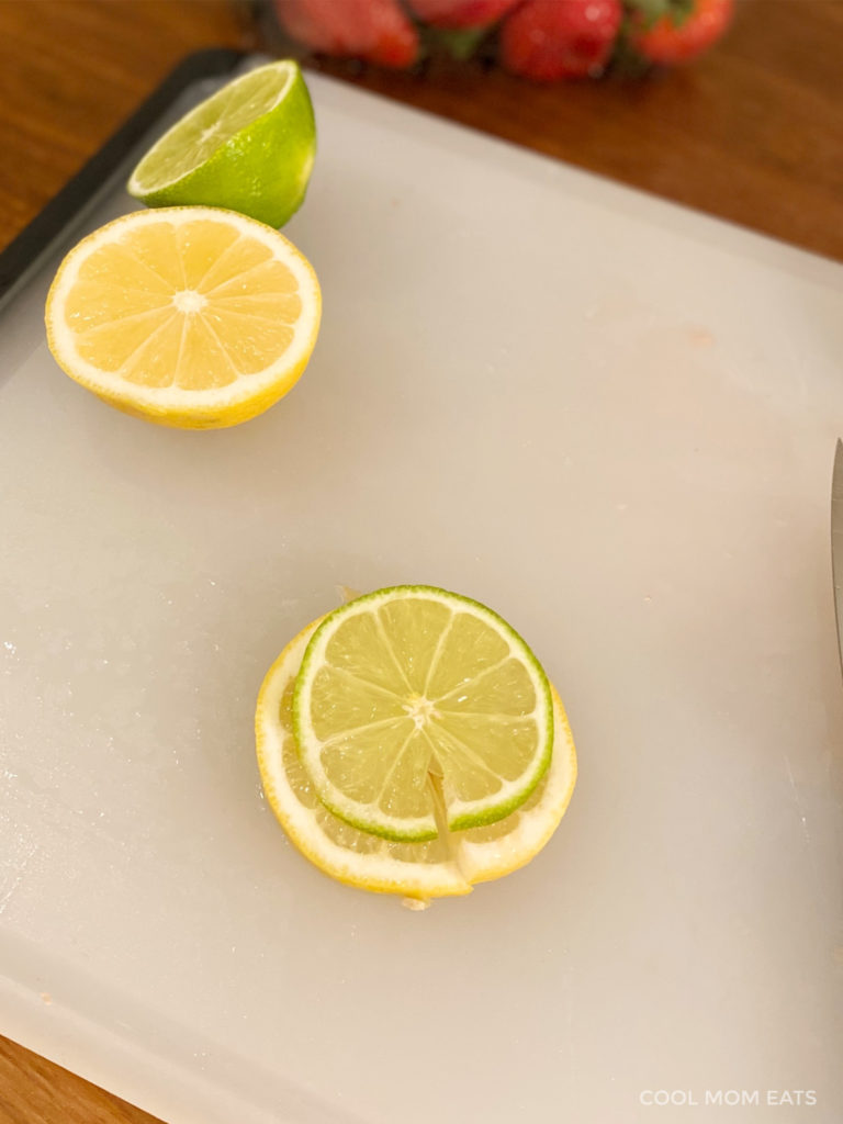Easy cocktail garnishes: A double citrus wheel on the rim ... or even a triple! | Cool Mom Eats