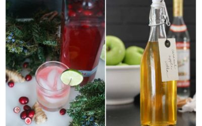 Homemade liqueur gifts from Strictly Delicious and The Shabby Creek Cottage