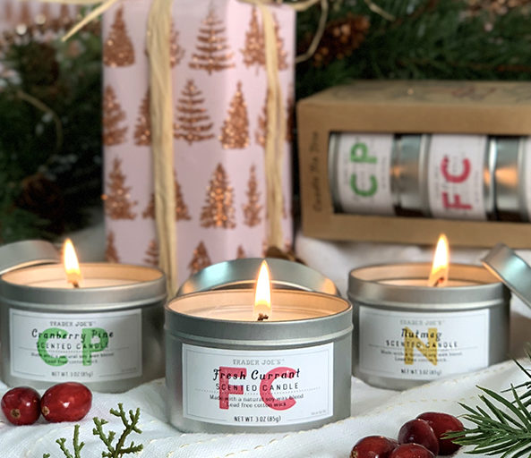 Trader Joe's gifts | Holiday Candle Trio