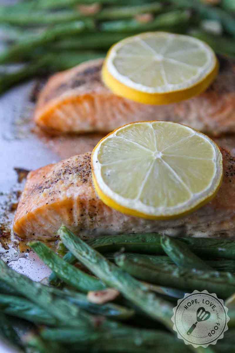 Weekly meal plan: Sheet pan salmon at Hope Love Food