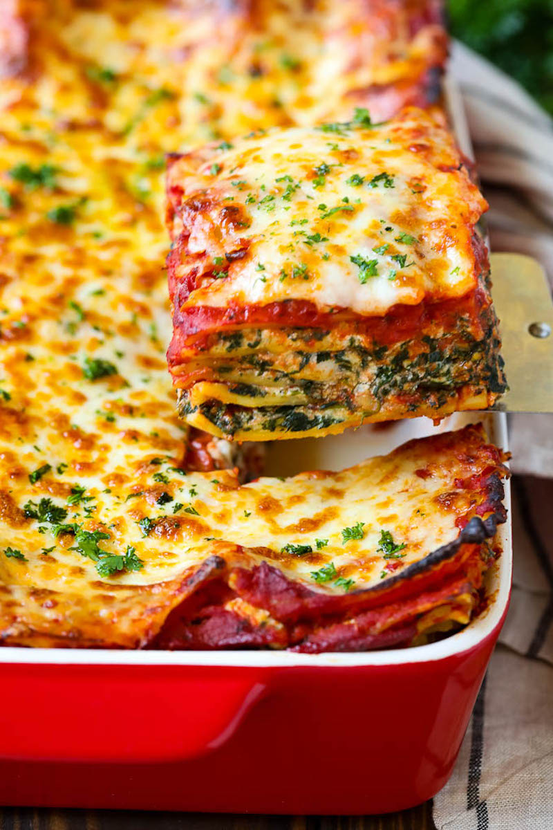 Weekly meal plan: Spinach Lasagna at Dinner at the Zoo