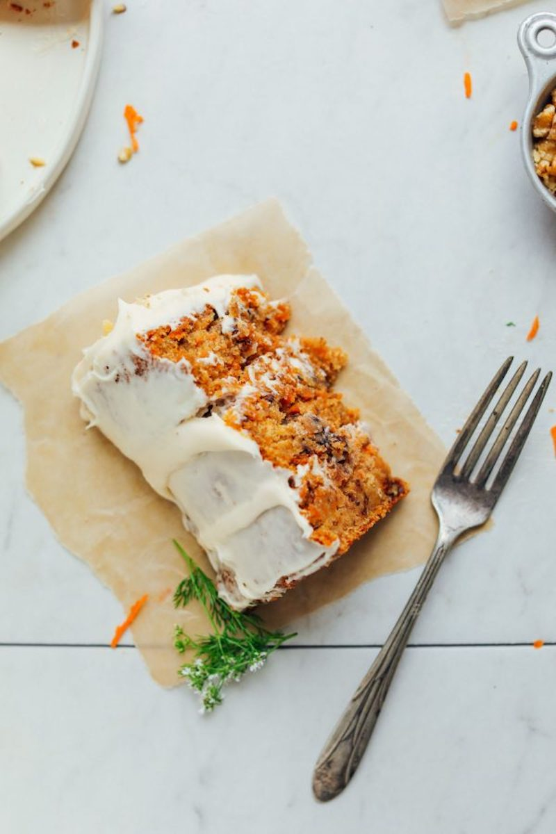 Weekly meal plan: A one-bowl carrot cake recipe we swear by at Minimalist Baker