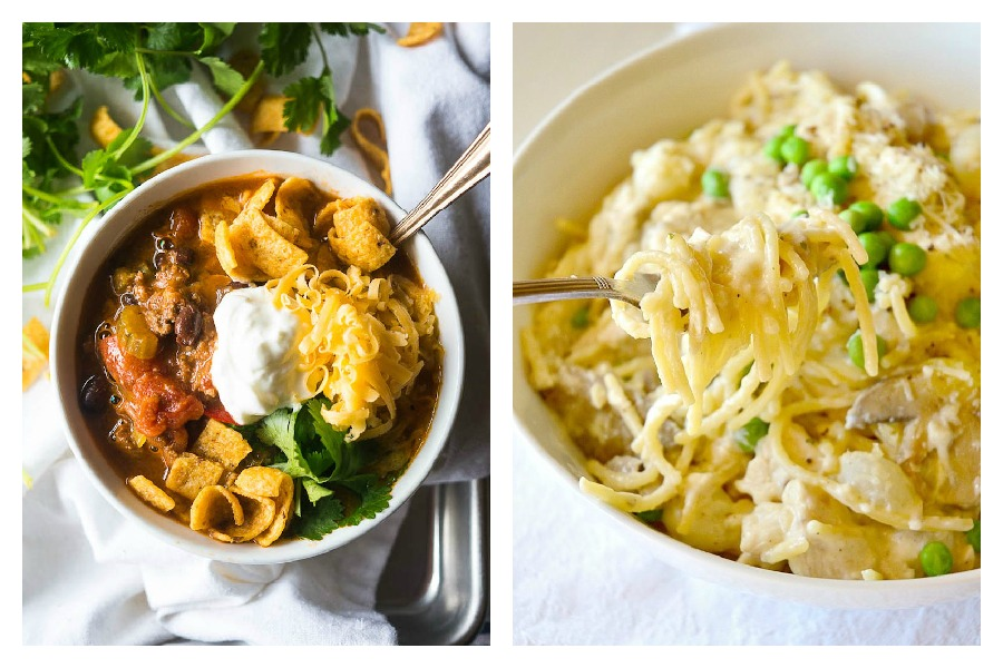 Weekly meal plan: Chili at Kitschen Cat and Turkey Tetrazzini at This Is How I Cook